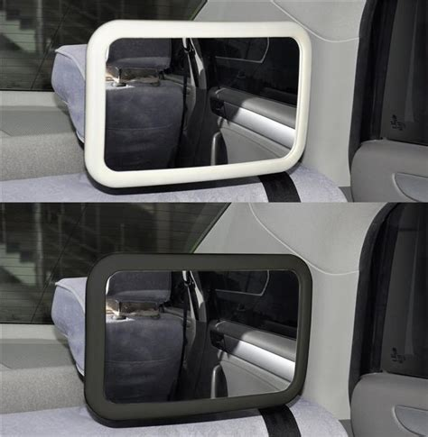 back seat mirror with light large adjustable wide view rear baby child seat car safety