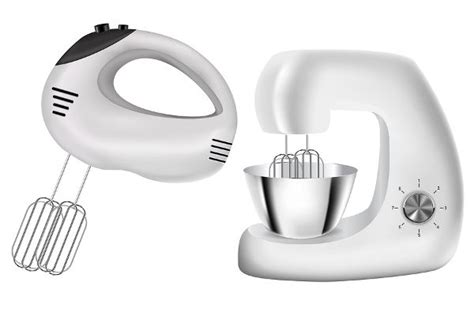 hand mixer  stand mixer vector illustration isolated  white background kitchen tools