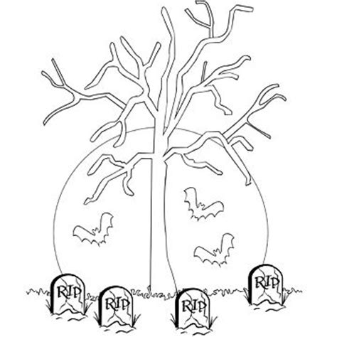 haunted tree coloring page fun free halloween coloring pages