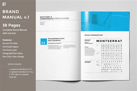 four page brochure template 6 best agenda templates