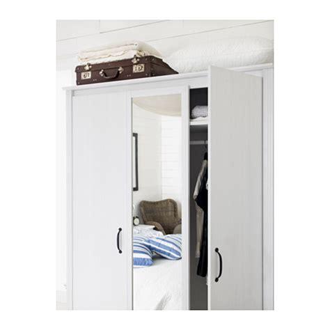 three door wardrobe ikea brusali wardrobe with 3 doors white 131x190 cm ikea