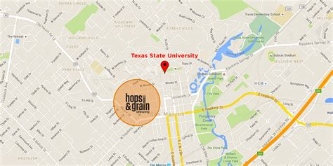 texas state university cus map hops and grain gold medal winning craft brewery in texas wefunder