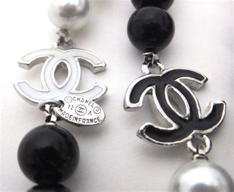 A Black And White Affair At Chanel Jewelry Of Diamonds by Authentic Chanel Black White Enamel Necklace Classic