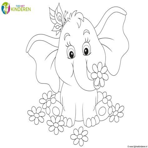 tekening vlinder met bloem kleurplaat vlinder bloem