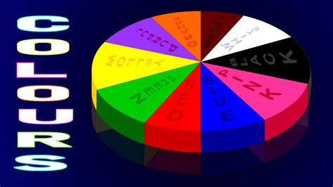 for colors colors for children to learn with color wheel chart