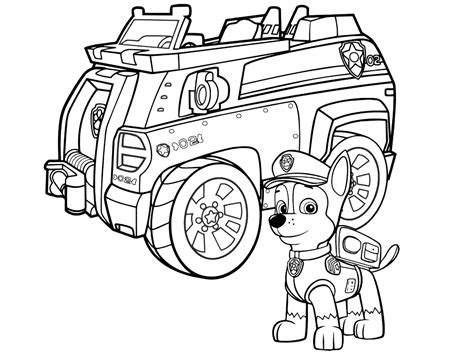 coloring pages of chase from paw patrol free nick jr paw patrol coloring pages