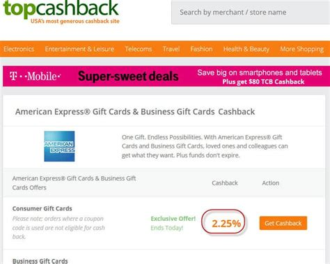 Cashback Buying Gift Cards - today only 2 25 cash back on amex gift cards
