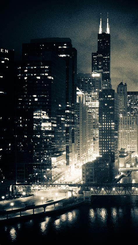 night chicago wallpaper  iphone
