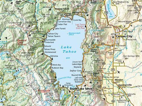 lake tahoe map maps lake tahoe maps