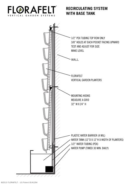 vertical garden section alf img showing gt green wall system section