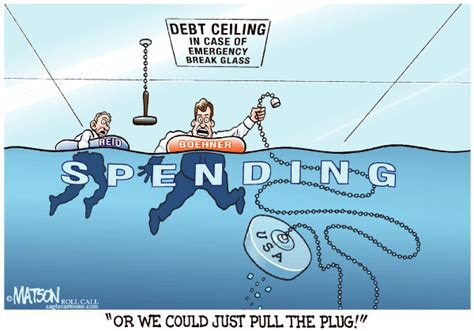 debt ceiling political cartoons politicalcartoons com cartoon