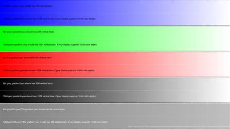 10 bit color github jursonovicst gradient 10 bit display test sequence