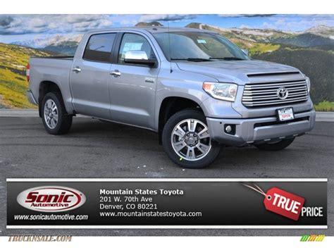 Silver Toyota 2015 Toyota Tundra Platinum Crewmax 4x4 In Silver Sky