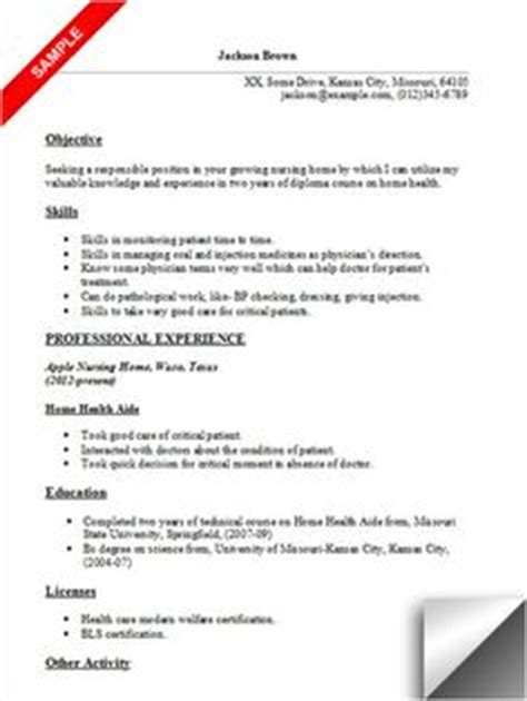 Cna Home Health Care Resume Exles by Free Sle Certified Nursing Assistant Resume Creative