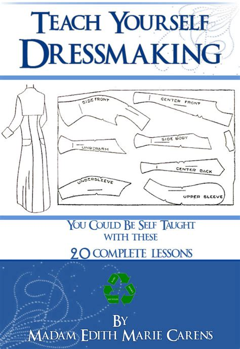 Teach Yourself Pattern Drafting | teach yourself dressmaking 20 complete lessons design art deco