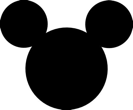 Mickey Mouse Silhouette Clip by Mickey Mouse Clip Silhouette Clipart Panda Free