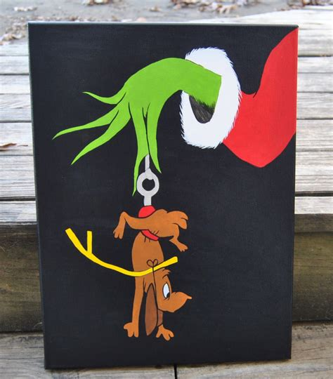 christmas canvas painting ideas christmas decore how the grinch stole christmas canvas painting max grinch wall