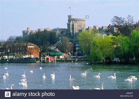 thames river windsor windsor castle on the river thames london england uk