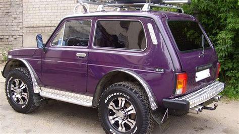 lada big 1197 lada 4x4 niva with big wheels russian auto tuning