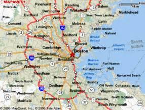 Map Of Boston Suburbs map boston its suburbs