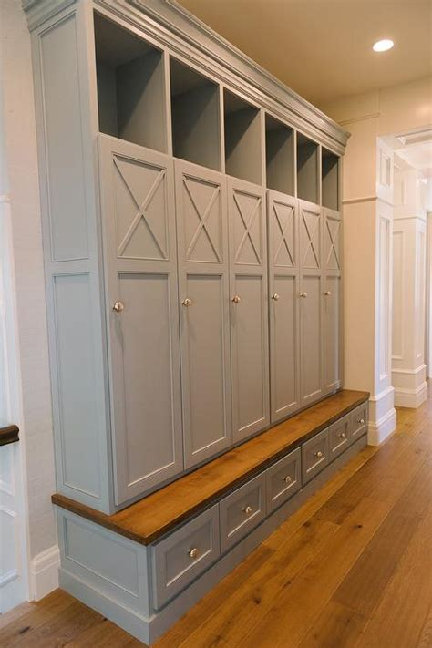 mudroom storage gray mudroom lockers with bench transitional laundry room