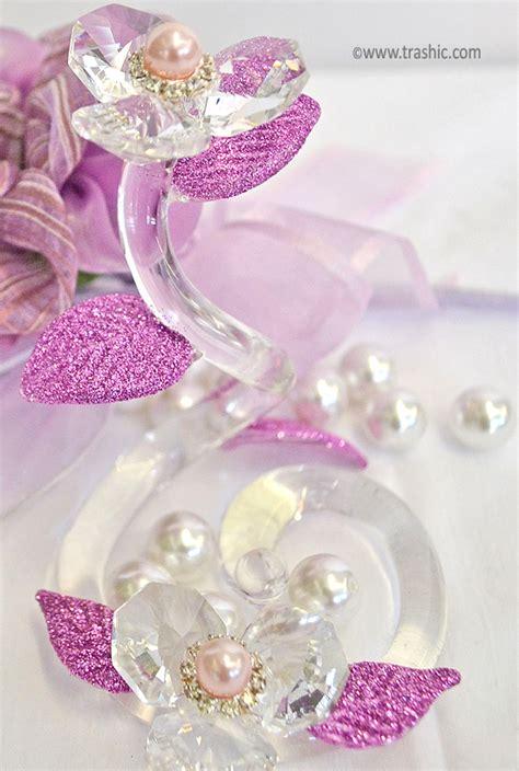 fiore di cristallo bomboniera fiori in cristallo con perle trashic