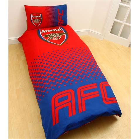 Arsena Set arsenal fc fade duvet cover sets single available official bedding ebay