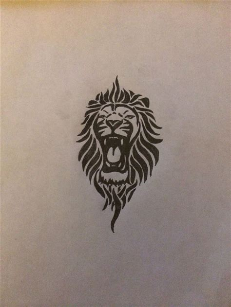 small lion tattoo designs tribal for my left inner forearm ink