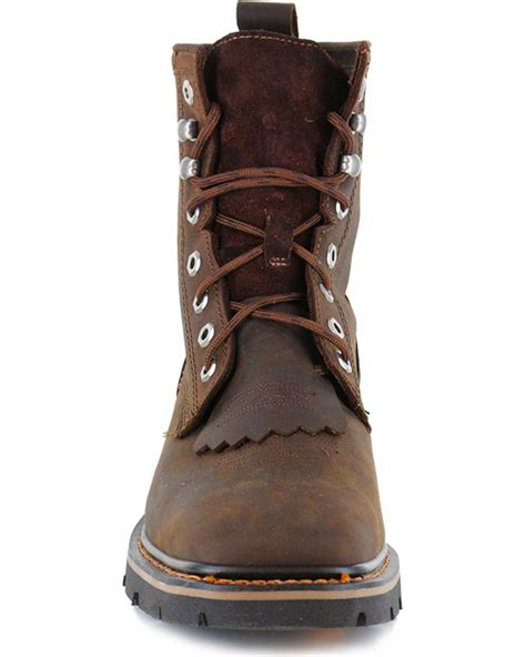 square toe lace up boots s lace up kiltie work boots square toe