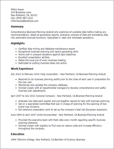 Resume Format For Business Plan   Augustais