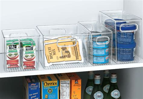 Pantry Storage Bins by Clear Plastic Storage Bin 10 Inches By 4 Inches In Home