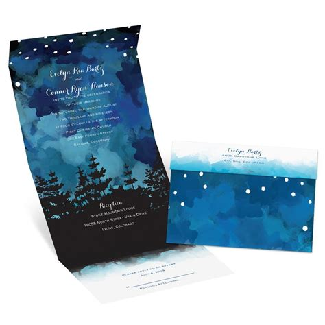 Glow Invitation Weddingku by Evening Glow Seal And Send Invitation S Bridal Bargains