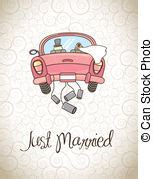 Postkarte Auto Just Married by Just Married Illustrationen Und Clip 3 258 Just