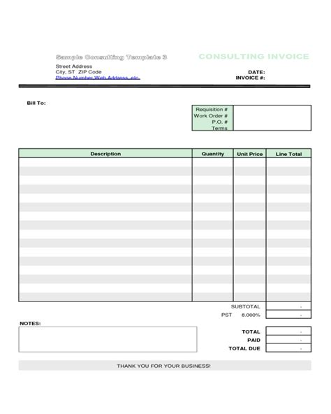 consultancy invoice template sle consulting invoices sle consulting invoice