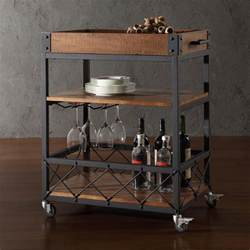 Rustic Kitchen Islands And Carts Tribecca Home Myra Rustic Mobile Kitchen Bar Serving Wine