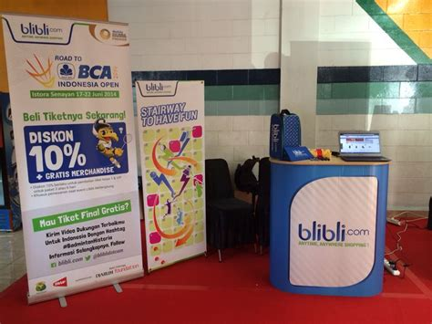 blibli event road to bca indonesia open 2014 booth blibli com ada di