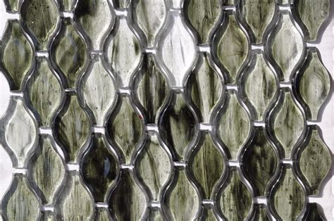 fusion brown pattern glass mosaic fusion glass jade green teardrop pattern 03g glass tile home