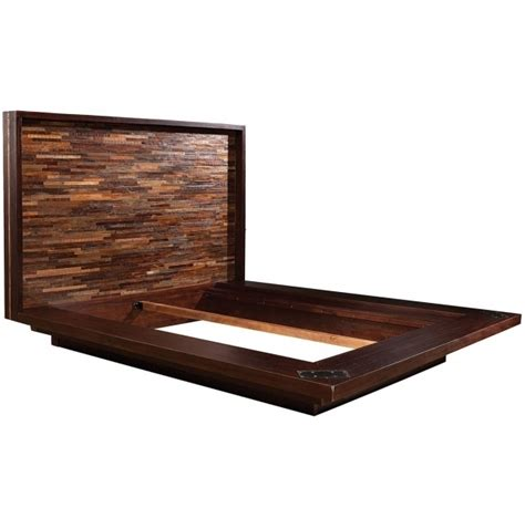 Reclaimed Wood Platform Bed Frame Pallet Reclaimed Wood King Headboard Platform Bed