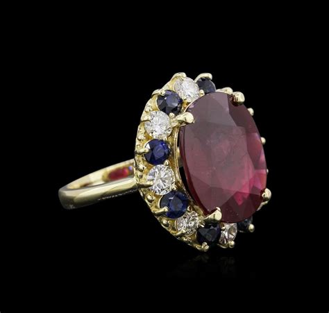 Ruby 8 65ct 14kt yellow gold 9 65ct ruby sapphire and ring