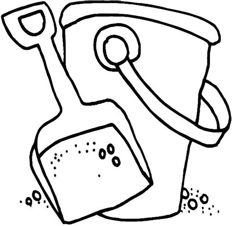 beach bucket pail and shovel coloring pages best place