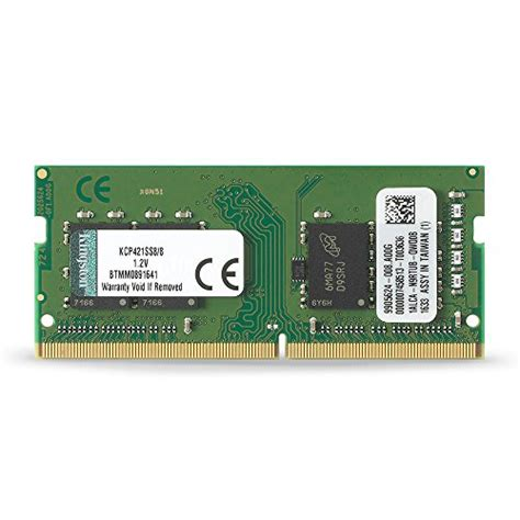 Sodimm Vgen 8gb Ddr4 Pc17000 2133mhz Memory Laptop Notebook V 1 kingston technology 8gb ddr4 2133mhz sodimm memory acer dell fujitsu lenovo laptop kcp421ss8 8