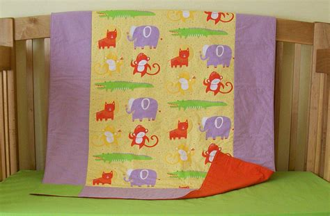 Organic Baby Quilt by Sale Organic Baby Quilt Toddler Quilt Safari Dreams