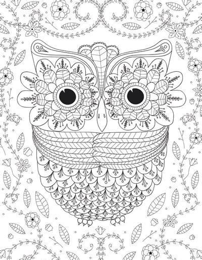 Big Eyed Owl Adult Coloring Page FaveCrafts