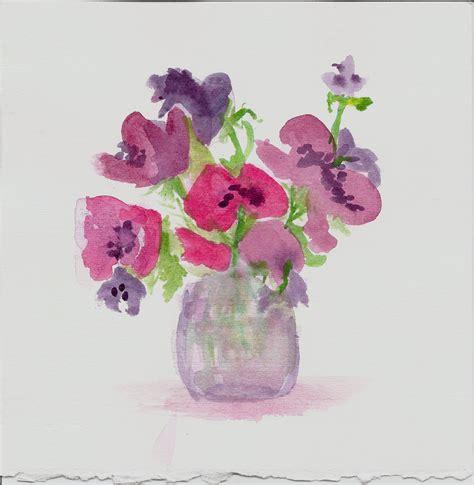 Watercolor Flowers In Vase by Mis Adventures In Watercolor Flower Bulbs Er Blobs