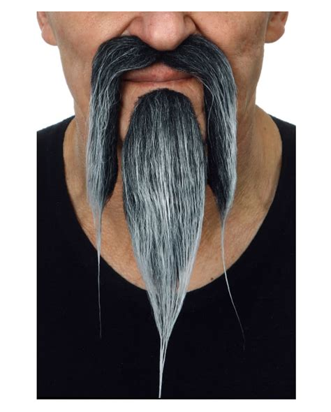 len grau beard black gray realistically beard made of