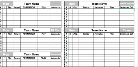 blank football depth chart template depth chart template contemporary exle resume