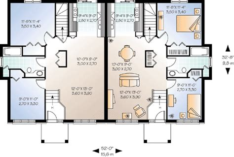 dual family house plans flexible two family house plan 21244dr 1st floor