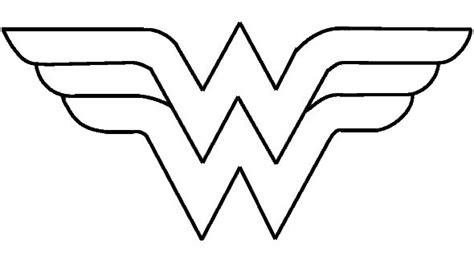 best photos of wonder woman symbol template wonder woman