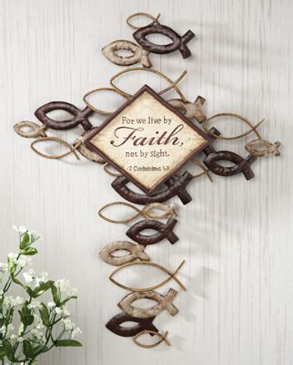 amazon com metal wall hanging large ichthys ichthus collections etc find unique online gifts at