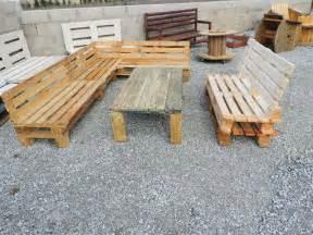 fabrication d un salon de jardin en palettes meubles de